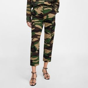 Zara premium camouflage cargo jeans